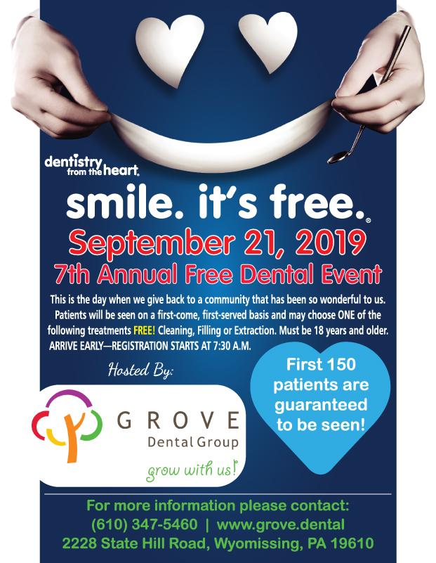 Free Dental Care at Grove Dental Group - Wyomissing | BCTV